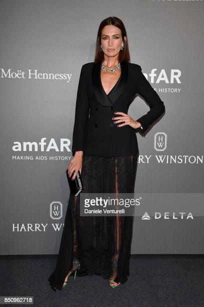 Nieves Alvarez walks the red carpet of amfAR Gala Milano on September 21 2017 in Milan Italy