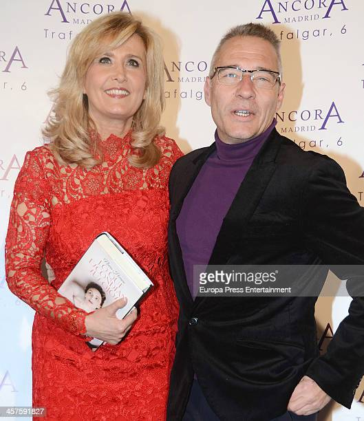 Nieves Herrero and Goyo Gonzalez attend 'Lo Que Escondian Sus Ojos' book presentation on December 17 2013 in Madrid Spain