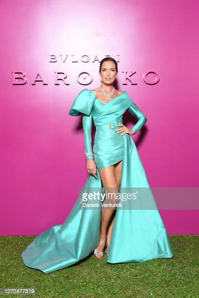 Nieves Álvarez attends Bulgari Barocco on September 14, 2020 in Rome, Italy.