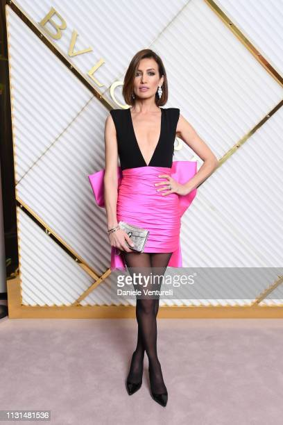 Nieves Álvarez attends BVLGARI Dinner Party Milan Fashion Week FW19 on February 22 2019 in Milan Italy