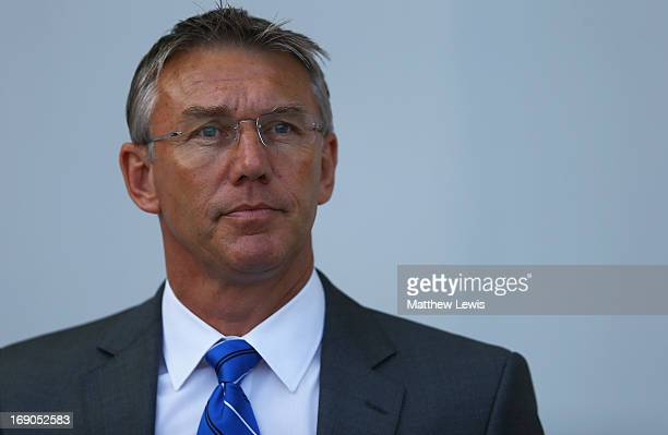 Nigel Adkins manager of Reading looks on during the Barclays Premier League match between West Ham United and Reading at the Boleyn Ground on May 19...