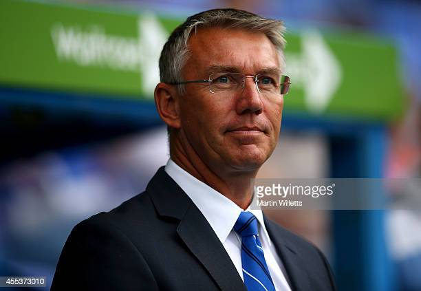 Nigel Adkins manager of Reading prior to the Sky Bet Championship match between Reading and Fulham at Madejski Stadium on September 13 2014 in...