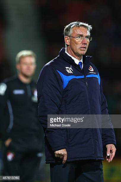 Nigel Adkins the manager of Reading looks on as his team head towards a 03 defeat during the Sky Bet Championship match between AFC Bournemouth and...