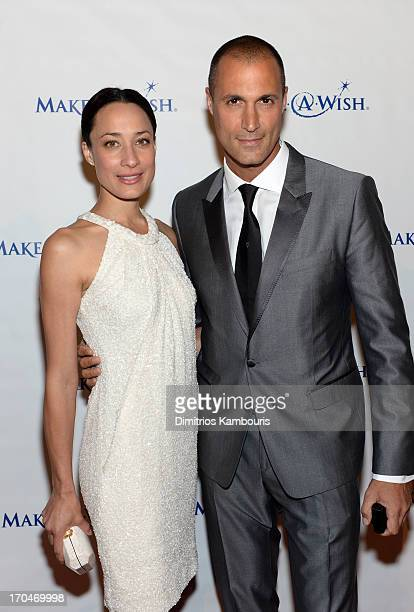 Nigel and Chrissy Barker attend An Evening of Wishes MakeAWish Metro New York's 30th Anniversary Gala at Cipriani Wall Street on June 13 2013 in New...