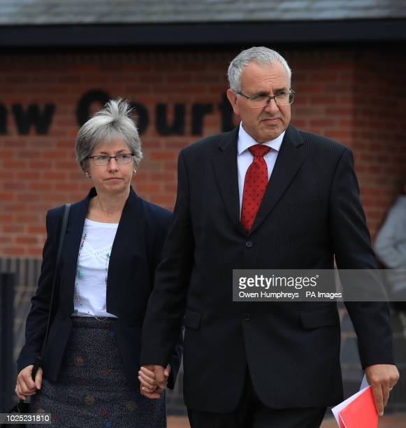 Nigel and Paula Burt the parents of Durham University student Olivia Burt who died outside a nightclub leave South East Northumberland Magistrates'...