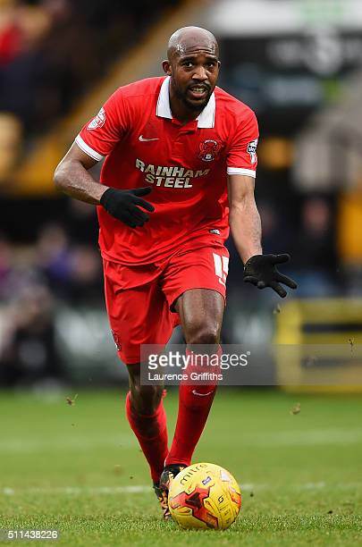 Nigel Atangana of Leyton Orient in action during the Sky Bet League Two match between Notts County and Leyton Orient at Meadow Lane on February 20...