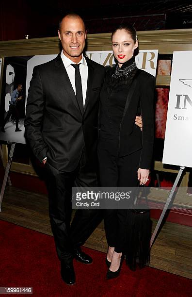 Nigel Barker and Coco Rocha attend DuJour Magazine Gala With Coco Rocha Nigel Barker Presented by Invicta at Scott Sartiano and Richie Akiva's The...