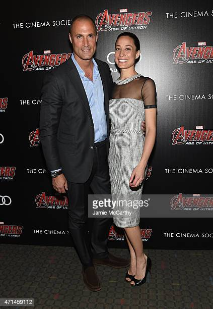 Nigel Barker and Cristen Barker attend The Cinema Society Audi screening of Marvel's Avengers Age of Ultron on April 28 2015 in New York City