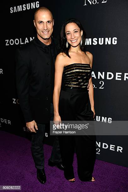Nigel Barker and Cristen Barker attend the 'Zoolander No 2' World Premiere at Alice Tully Hall on February 9 2016 in New York City