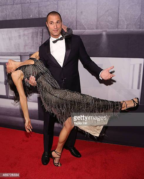 Nigel Barker and Cristen Chin attend The Whitney Museum Of American Art's 2014 Gala Studio Party at The Whitney Museum of American Art on November 19...