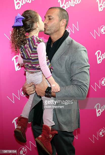 Nigel Barker and daughter Jasmine Ines Barker visit Barbie's Dream Closet in Lincoln Center at the David Rubenstein Atrium on February 11 2012 in New...