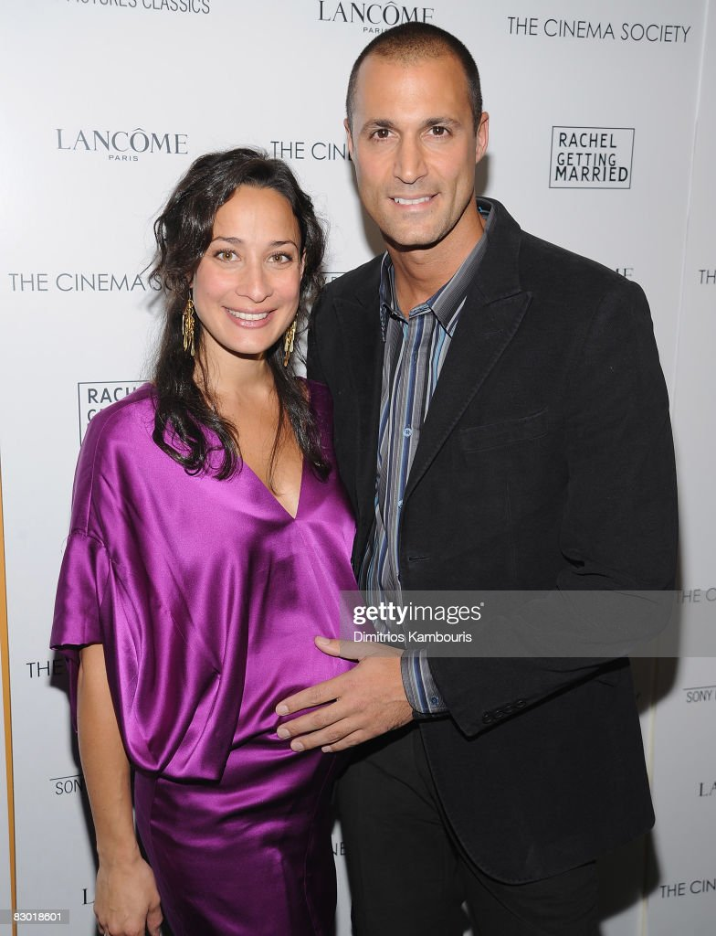 Nigel Barker and guest attend the Cinema Society and Lancome screening of 'Rachel Getting Married' at the Landmark Sunshine Theater on September 25, 2008 in New York City.