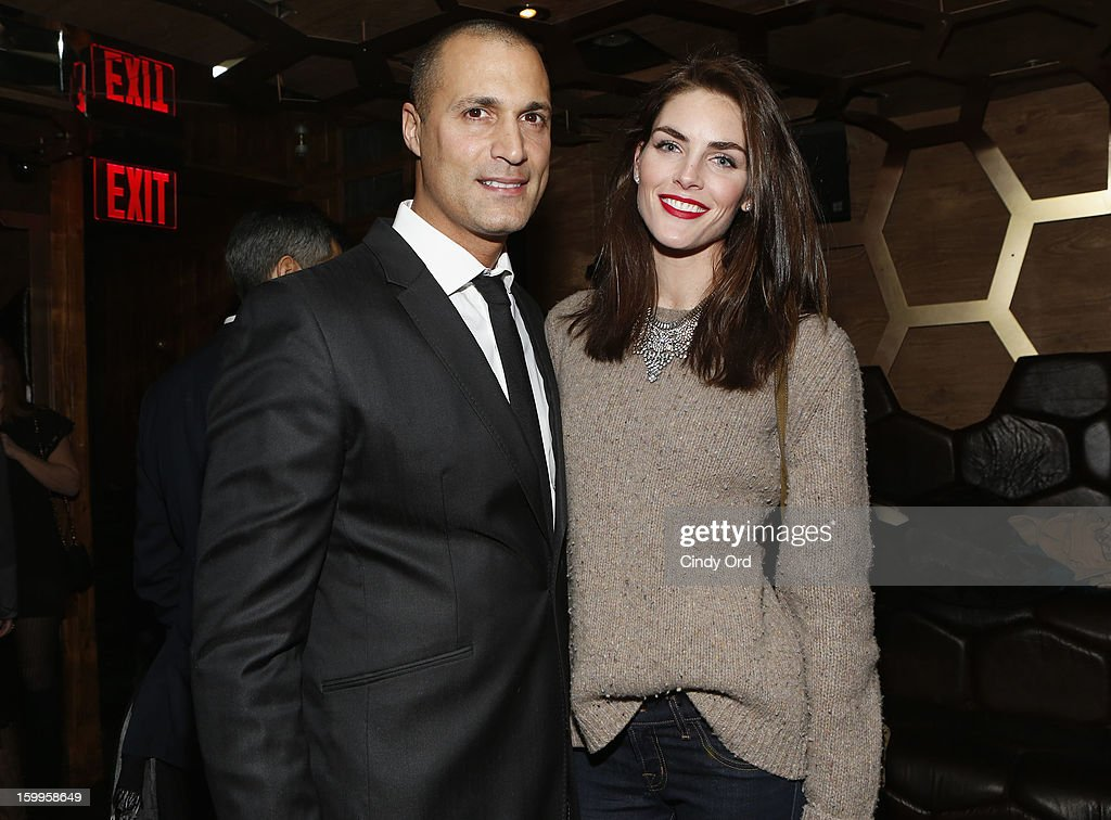 Nigel Barker and Hilary Rhoda attend DuJour Magazine Gala with Coco Rocha and Nigel Barker presented by TW Steel at Scott Sartiano and Richie Akiva's The Darby on January 23, 2013 in New York City.