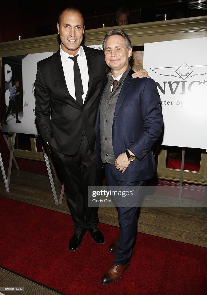 Nigel Barker and Jason Binn attend DuJour Magazine Gala With Coco Rocha & Nigel Barker Presented by Invicta at Scott Sartiano and Richie Akiva's The Darbyon January 23, 2013 in New York City.