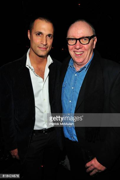 Nigel Barker and Terry George attend American Red Cross Concern Worldwide and The Edeyo Foundation Fundraiser at 1 OAK on January 21 2010 in New York...