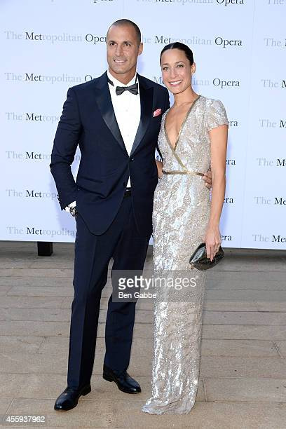 Nigel Barker and wife Cristen Barker attend the Metropolitan Opera Season Opening at The Metropolitan Opera House on September 22 2014 in New York...