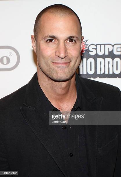 Nigel Barker attends the 25 years of Mario celebration Super Mario Bros Wii launch at the Nintendo World Store on November 12 2009 in New York City