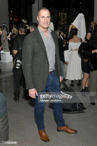 Nigel Barker attends the Fashion For Peace front row during New York Fashion Week The Shows at Gallery I at Spring Studios on February 13 2019 in New...
