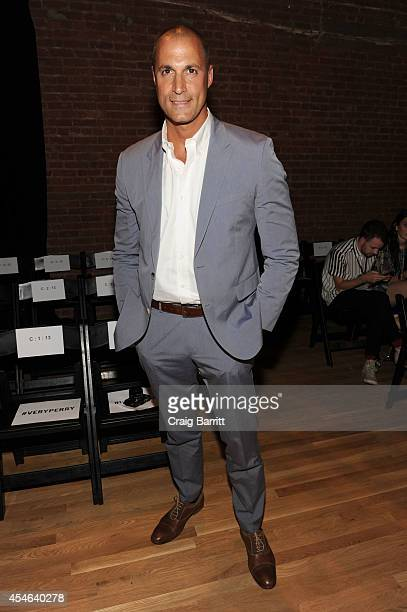 Nigel Barker attends the Perry Ellis fashion show during MercedesBenz Fashion Week Spring 2015 at The Waterfront on September 4 2014 in New York City