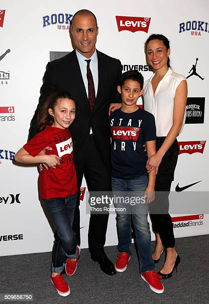 Nigel Barker Christen Barker and their children attend Nike/Levi's Kids Rock Runway Show on February 11 2016 in New York City