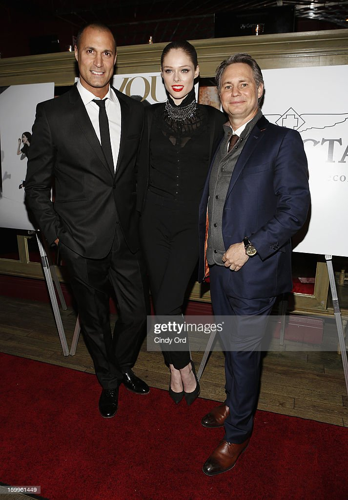 Nigel Barker, Coco Rocha and Jason Binn attend DuJour Magazine Gala With Coco Rocha & Nigel Barker Presented by Invicta at Scott Sartiano and Richie Akiva's The Darby on January 23, 2013 in New York City.