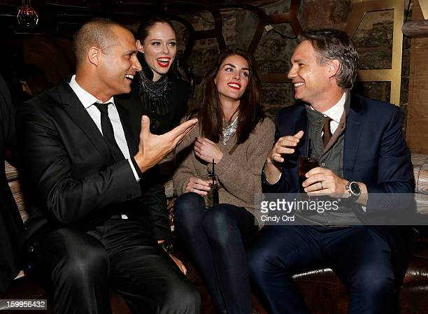 Nigel Barker Coco Rocha Hilary Rhoda and Jason Binn attend DuJour Magazine Gala with Coco Rocha and Nigel Barker presented by TW Steel at Scott...