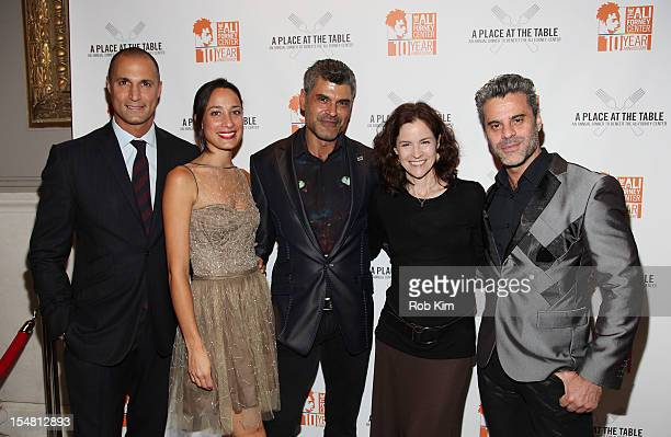 Nigel Barker Cristen Barker Mike Ruiz Ally Sheedy and Martin Berusch attend A Place At The Table Annual Dinner Benefiting Homeless LGBT Youth at...