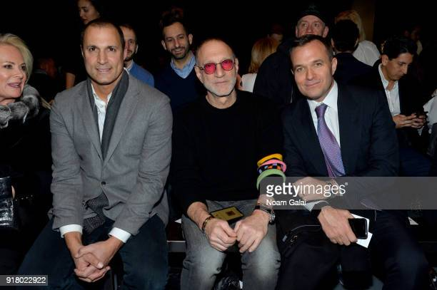 Nigel Barker Gary Wassner and Greg Kelly attend the Zang Toi front row during New York Fashion Week The Shows at Pier 59 on February 13 2018 in New...