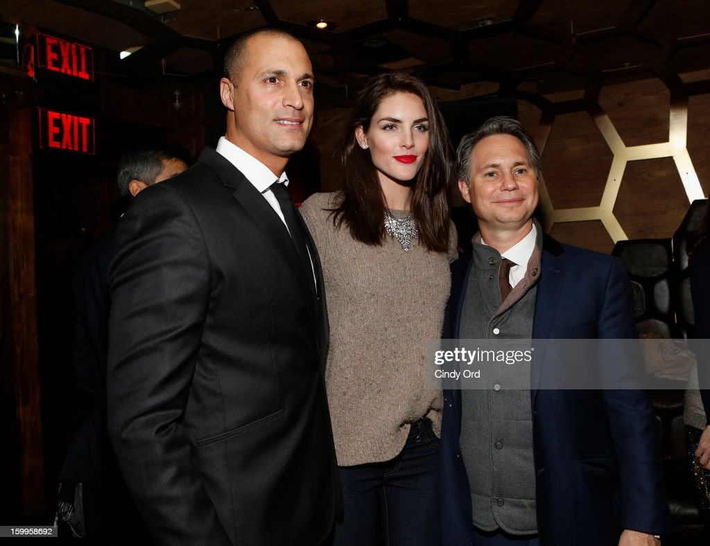 Nigel Barker, Hilary Rhoda, and Jason Binn attend DuJour Magazine Gala with Coco Rocha and Nigel Barker presented by TW Steel at Scott Sartiano and Richie Akiva's The Darby on January 23, 2013 in New York City.