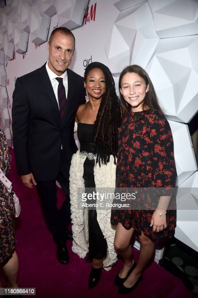 Nigel Barker Monique Coleman and Jasmine Ines Barker attend the 2nd Annual Girl Up #GirlHero Awards at the Beverly Wilshire Four Seasons Hotel on...