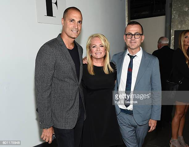 Nigel Barker Pamella Roland and Steven Kolb attend Pamella Roland Fashion show during New York Fashion Week September 2016 at Pier 59 Studios on...