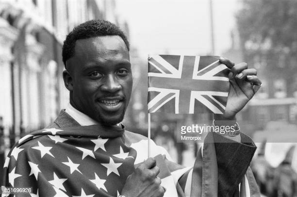 Nigel Benn promoting his next fight with American Tim Williams which will be held at the Royal Albert Hall London Benn would go to stop his opponent...
