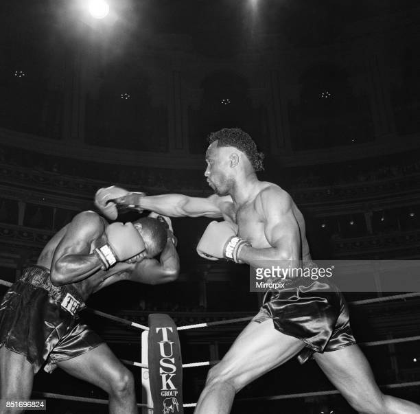 Nigel Benn vs Tim Williams at Royal Albert Hall London Benn stopped his opponent in the second round 28th May 1988