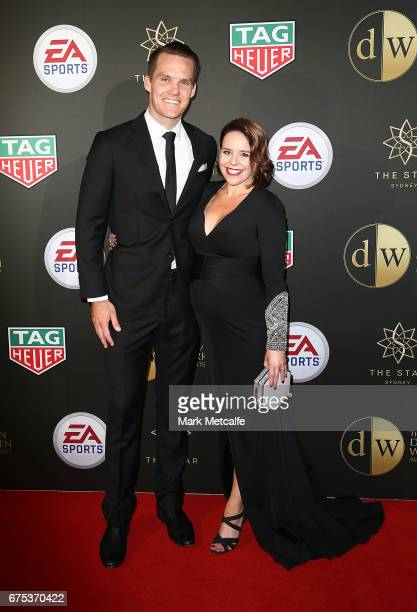 Nigel Boogaard and Kerryn Boogaard arrive ahead of the FFA Dolan Warren Awards at The Star on May 1 2017 in Sydney Australia