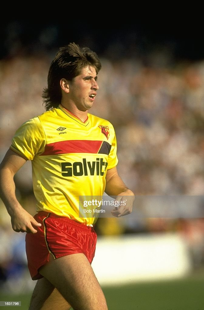 Nigel Callaghan of Watford in action during a Canon League Division One match against Sheffield Wednesday at Vicarage Road in Watford, England. \ Mandatory Credit: Bob Martin/Allsport