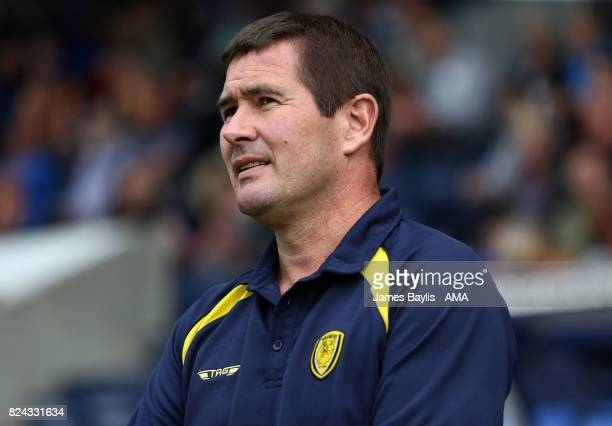 Nigel Clough manager of Burton Albion during the PreSeason Friendly between Shrewsbury Town and Burton Albion at the Montgomery Waters Meadow on July...