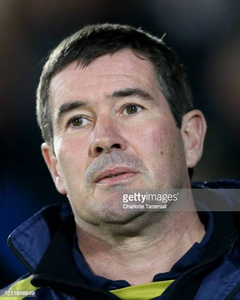Nigel Clough manager of Burton Albion looks on during the Sky Bet League One match between Burton Albion and Bolton Wanderers at Pirelli Stadium on...