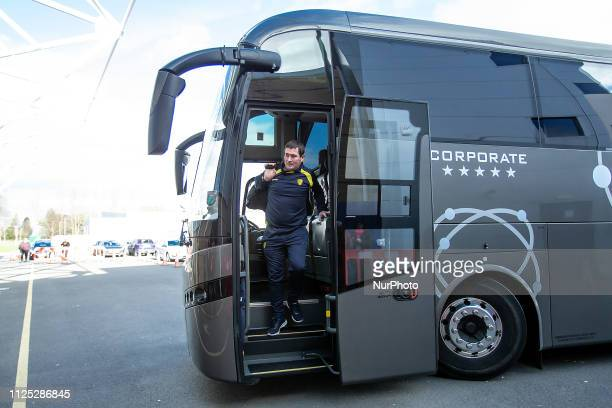 Nigel Clough Manager of Burton arrives ahead the Sky Bet League 1 match between Shrewsbury Town and Burton Albion at Greenhous Meadow Shrewsbury on...