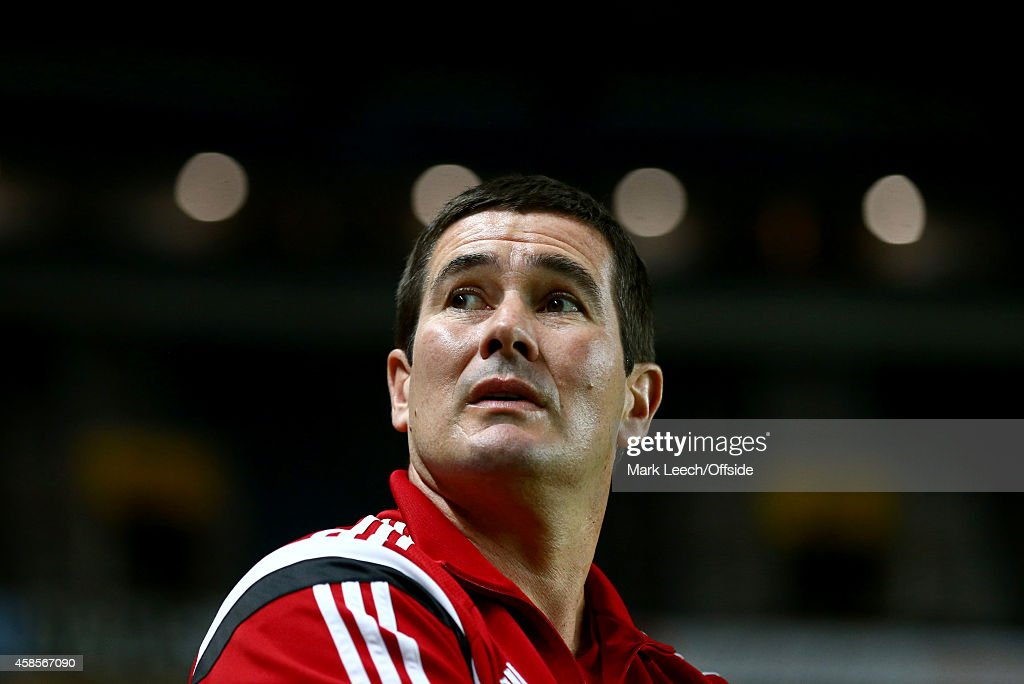 Nigel Clough, Manager of Sheffield United during the Capital One Cup Fourth Round match between MK Dons and Sheffield United at Stadium mk on October 28, 2014 in Milton Keynes, England.