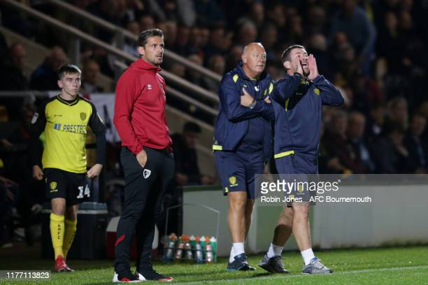 Nigel Clough of Burton Albion during the Carabao Cup Third Round match between Burton Albion and AFC Bournemouth at Pirelli Stadium on September 25...