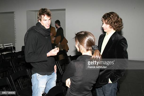 Nigel Croft Adams and Patrick Graham attend Reception for Dazed and Abused Play at Diane von Furstenburg Studio on March 10 2005 in New York City