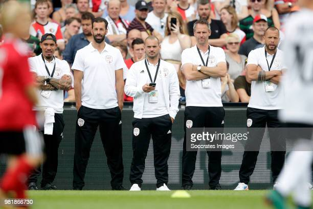 Nigel de Jong Ruud van Nistelrooy Wesley Sneijder Andre Ooijer John Heitinga during the Dirk Kuyt Testimonial at the Feyenoord Stadium on May 27 2018...