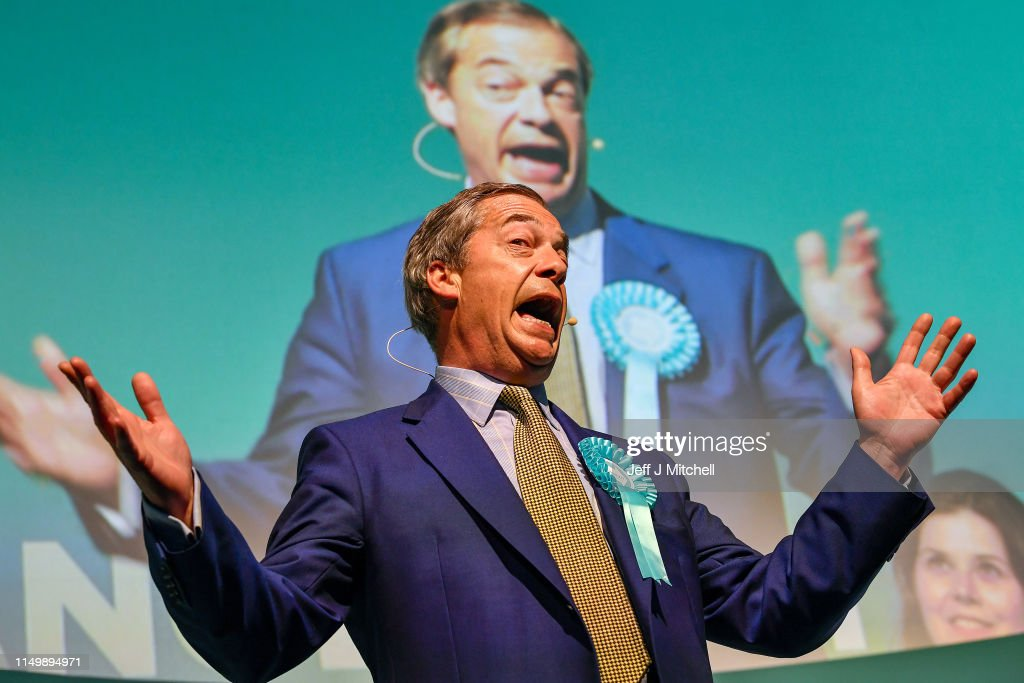 GBR: Nigel Farage Holds Brexit Party Rally In Scotland