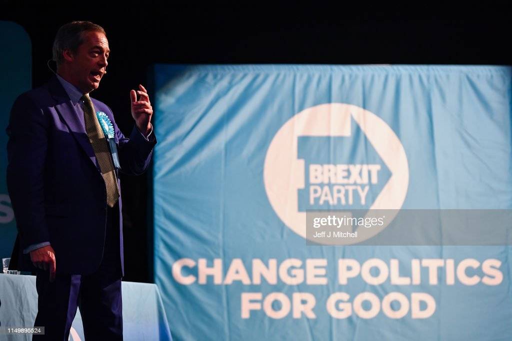 Nigel Farage Holds Brexit Party Rally In Scotland : Nieuwsfoto's