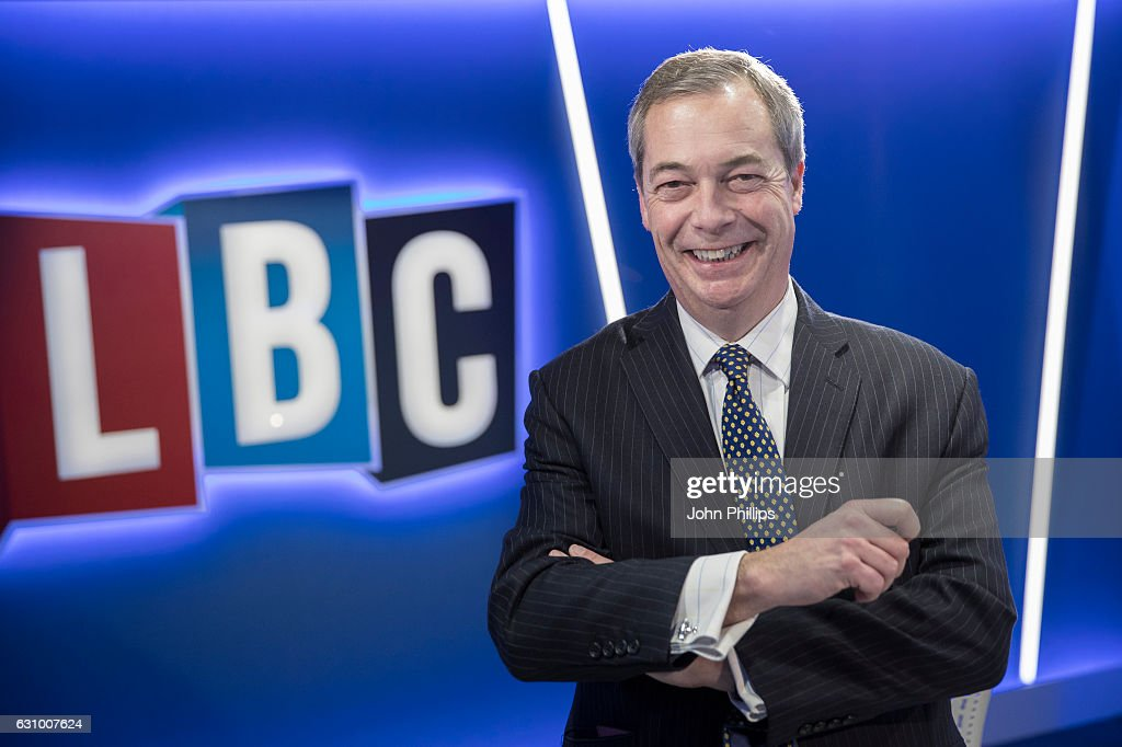 Nigel Farage Joins LBC To Present A Brand New Nightly Radio Show 'The Nigel Farage Show'