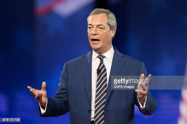 Nigel Farage speaking at the American Conservative Union's 2017 Conservative Political Action Conference