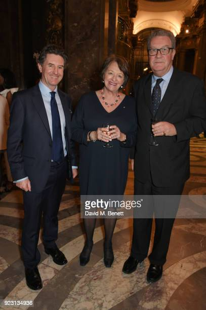 Nigel Gosse Director of Woolmark Company Nicky Downer and Alexander Downer Australian High Commissioner to the United Kingdom attend the VIP preview...