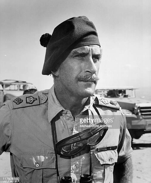 Nigel Green looks forward scene from the film 'Tobruk' 1967