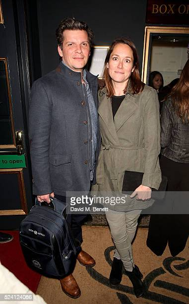 Nigel Harman and Lucy Liemann attend the Gala Night performance of Doctor Faustus at The Duke Of York's Theatre on April 25 2016 in London England