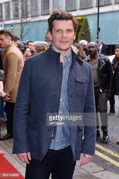 Nigel Harman arrives for the gala night performance of Doctor Faustus at Duke Of York's Theatre on April 25 2016 in London Englan
